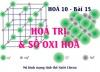 Cách xác định số Oxi hoá và hoá trị của 1 nguyên tố trong hợp chất - hoá 10 bài 15